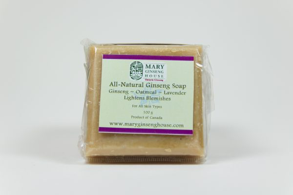 Hand-made Ginseng Oatmeal Lavender Soap (100 g)