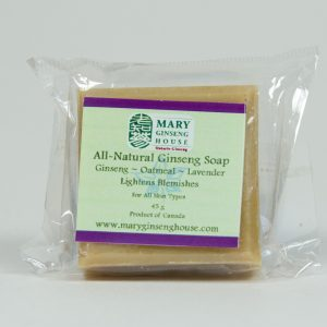 Hand-made Ginseng Oatmeal Lavender Soap (45 g)